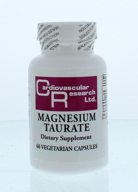 Afbeelding van Cardivascular Research Magnesium Tauraat 125mg Capsules