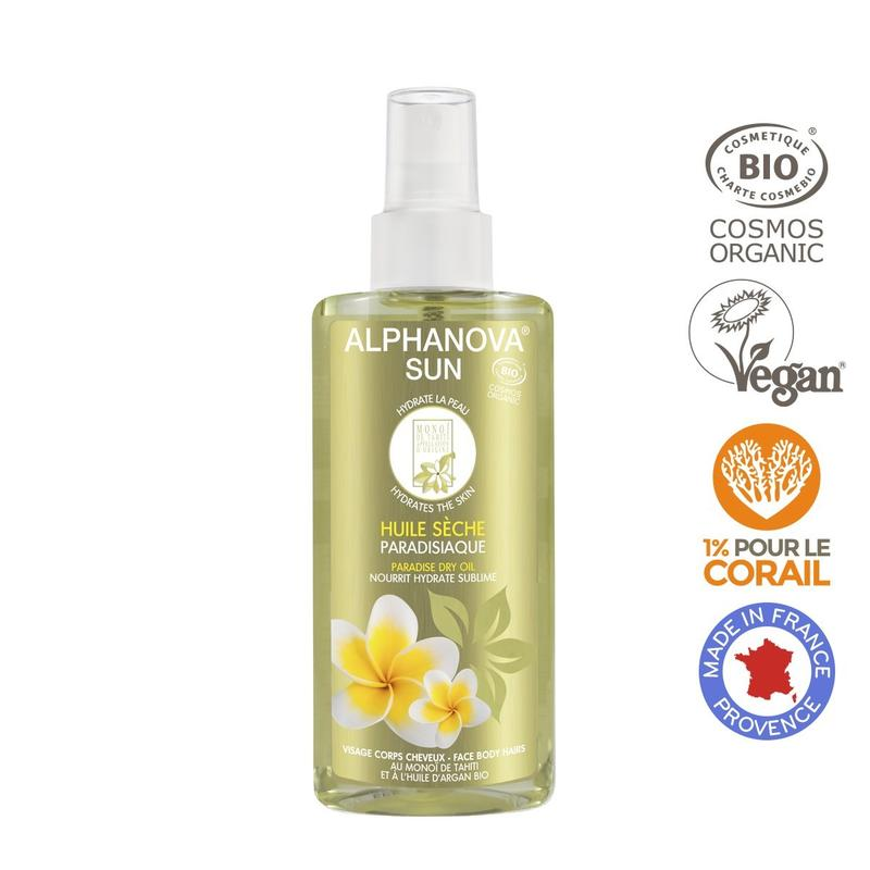 Alphanova Sun Sun Vegan Dry Oil Spray Paradise Bio
