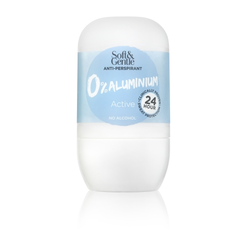 Soft&Gentle Deodorant Roll On Active Aluminium Free