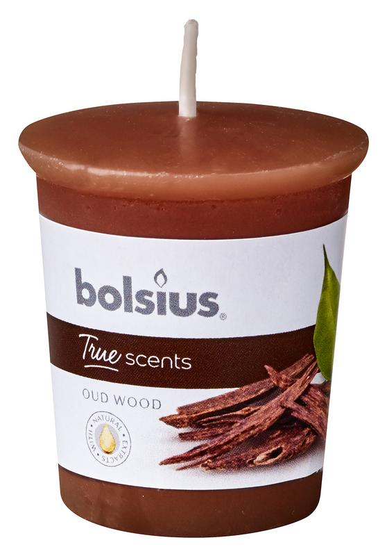 Bolsius Votive 5345 Rond True Scents Oud Wood