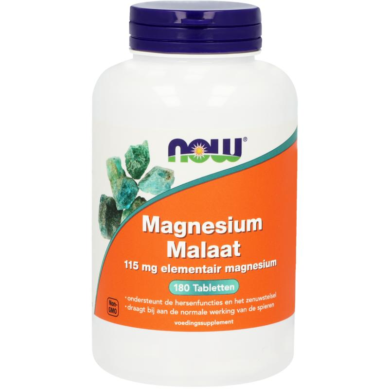 Now Magnesium Malaat 115 Mg
