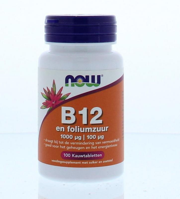 Now Vitamine B12 1000 Mcg En Foliumzuur 100 Mcg