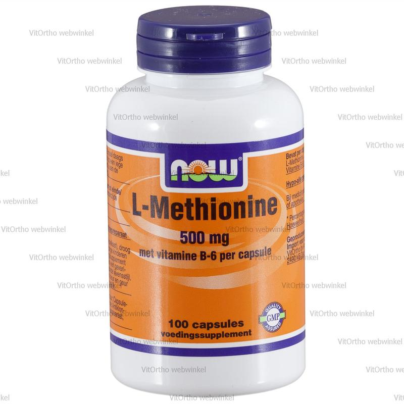 L-Methionine 500 Mg Met Vitamine B6 Now