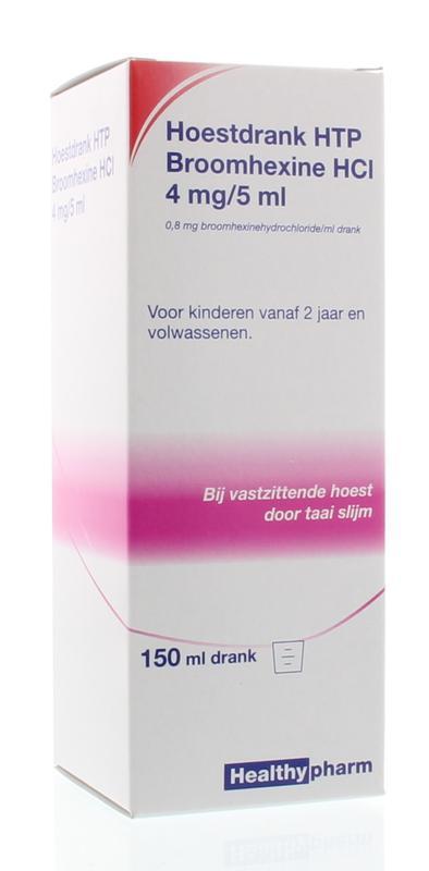 Healthypharm Hoestdrank Broomhexine 4mg-5ml 150ml