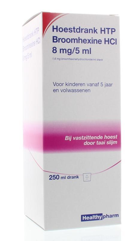 Healthypharm Hoestdrank Broomhexine 8mg-5ml 250ml