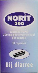 Norit Capsules 200mg 30cap