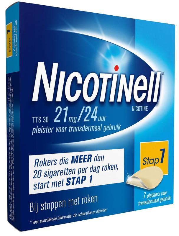 Nicotinell Pleisters Tts 30 21mg-24uur 7stuks