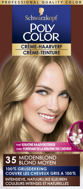 Poly Color Creme Haarverf 35 Middenblond