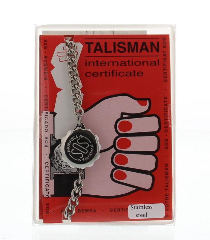 Sos talisman SOS smalle armband RVS compleet vrouw