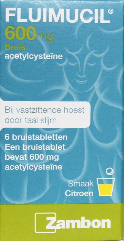 Fluimucil Hoesttabletten Bruistablet 600mg 6tab