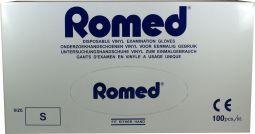 Romed Vinyl Handschoen Natural Spray Poeder S 100stuks