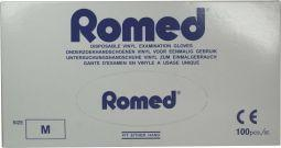 Romed Vinyl Handschoen Natural Spray Poeder M 100stuks