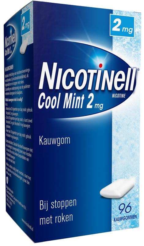 Nicotinell Kauwgom 2mg Mint 96stuks