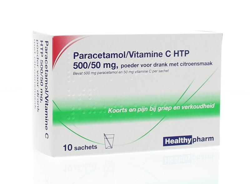 Healthypharm Paracetamol-Vitamine C Drn 10 Stuks
