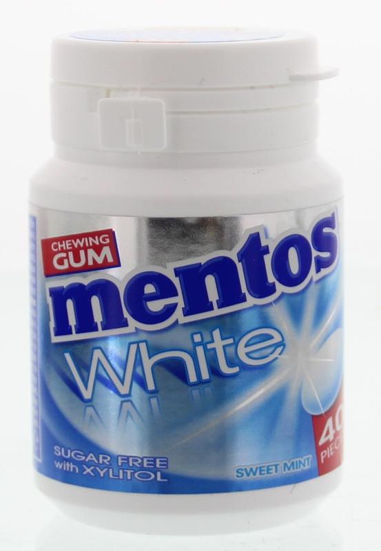 Mentos Gum White Sweet Mint 40stuks