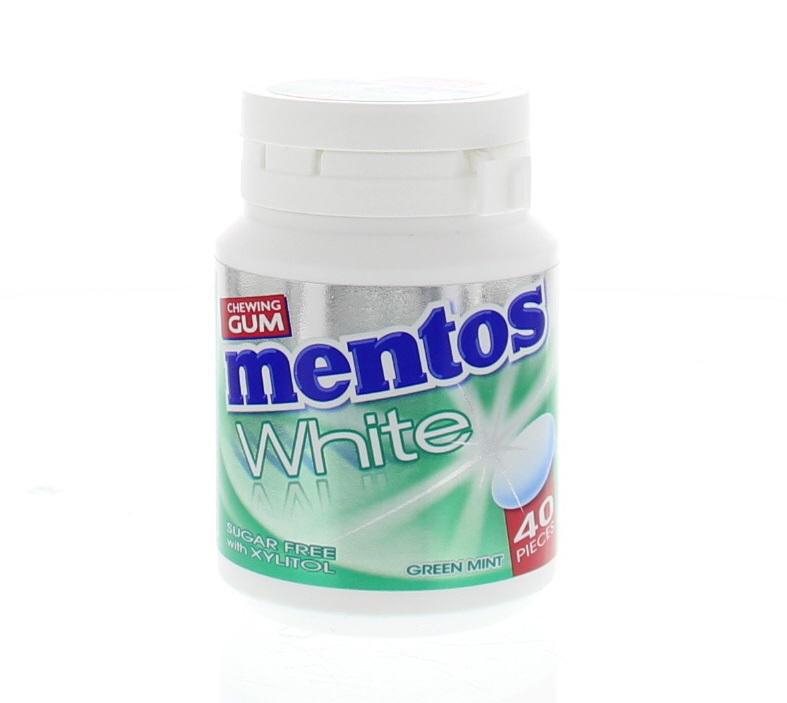 Mentos Gum White Green Mint 40stuks