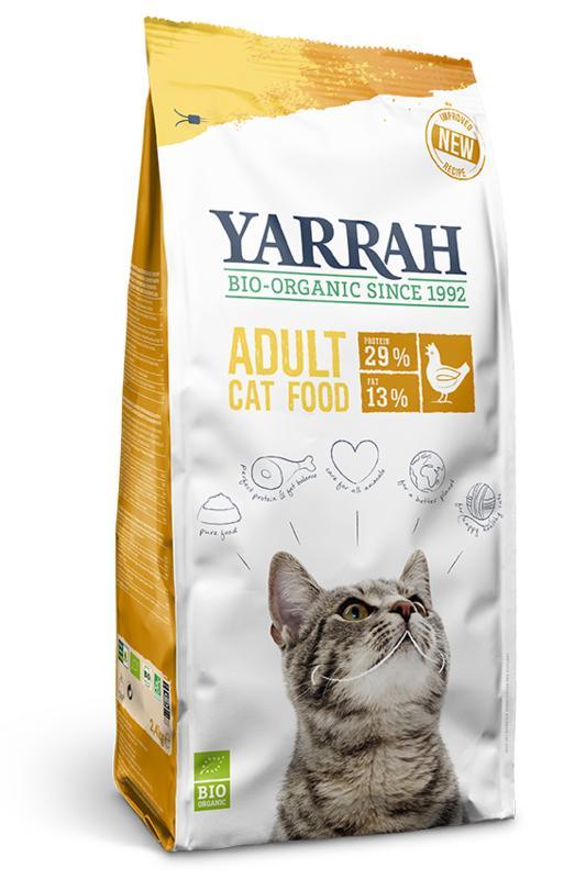 Yarrah Kattenbrokken droog kip 800gr