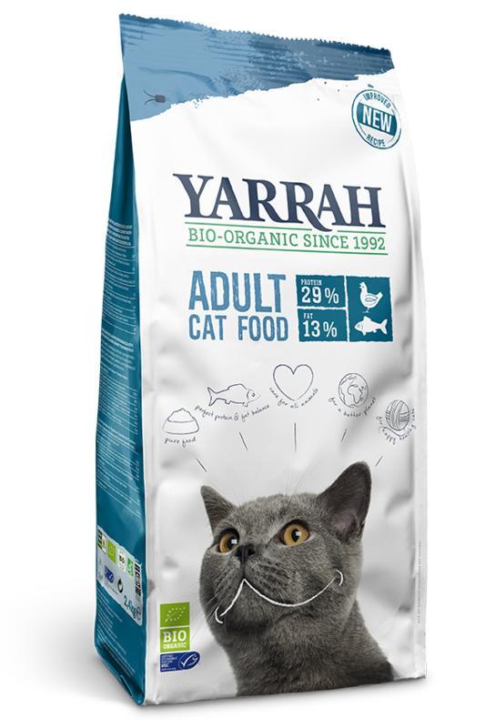 Yarrah Kattenbrokken droog vis 800gr