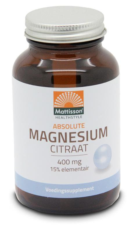 Mattisson Active Magnesium Citraat 400 Mg