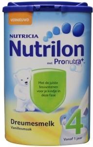 Nutrilon 4 Dreumesmelk Vanille vanaf12mnd 800gram