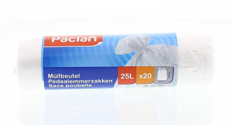 Paclan Pedaalemmerzak 25 liter 20stuks