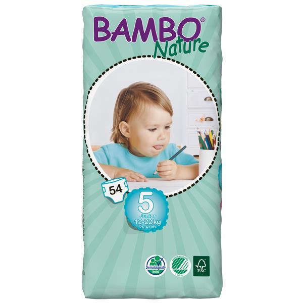 Bambo Babyluier junior 5 12-22 kilogram 54stuks