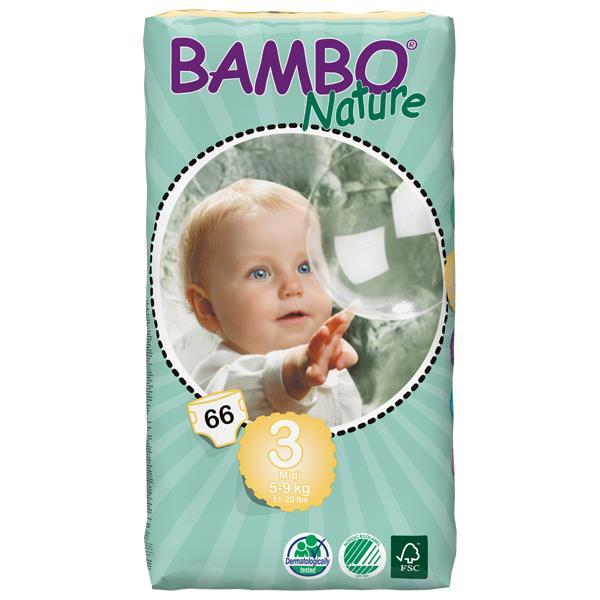 Bambo Babyluier Midi 3 5-9kg 4tot6mnd 66st