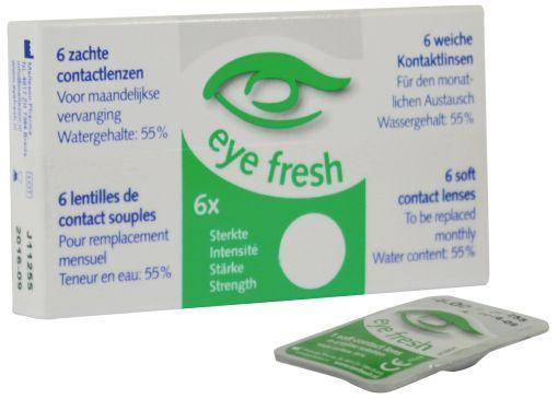 Eyefresh 1 Maand Lens 6-Pack -2.25