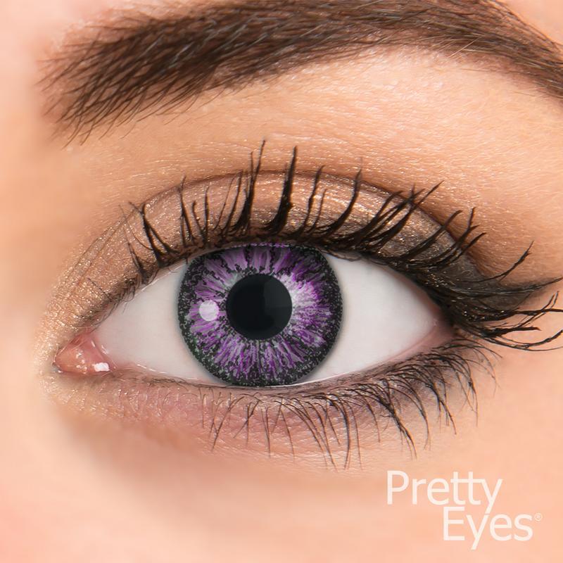 Pretty Eyes Daglens Color Violet 8stuks