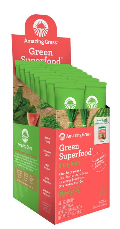 Afbeelding van Amazing Grass Green Superfood Energy Watermelon 105 g (15x7g)