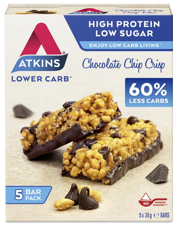 Atkins Chocolate Chip Crisp Reep 30 Gram
