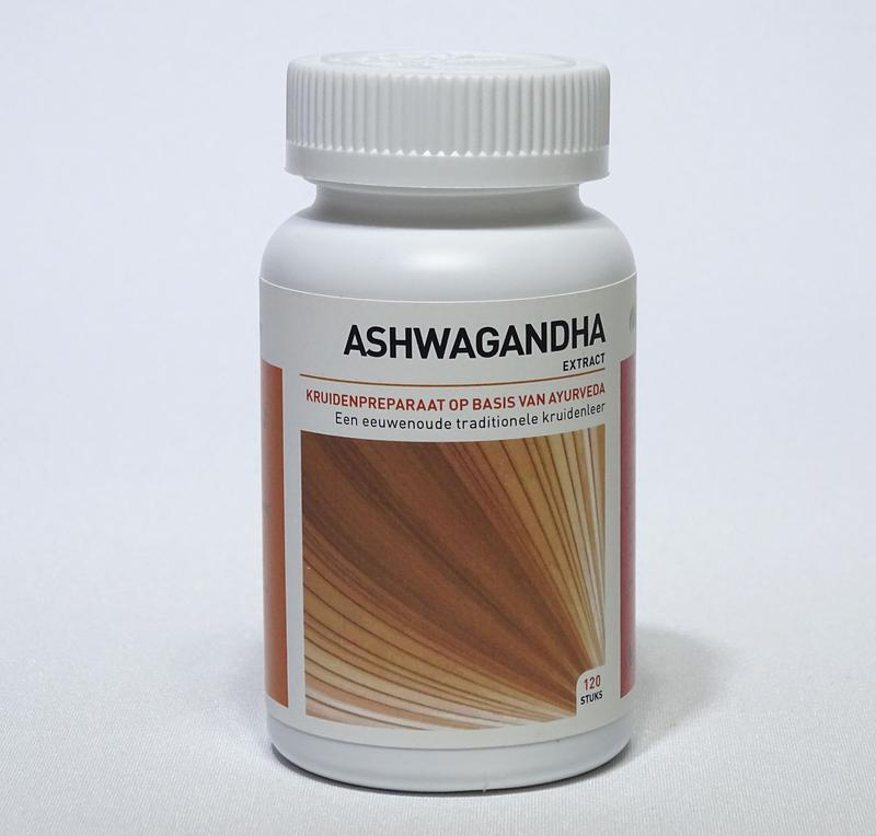 Afbeelding van Ayurveda Health Ashwagandha Withania Somnifera 120tb