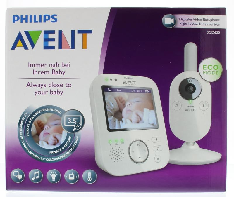 Avent Video Babyfoon Scd630