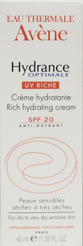 Afbeelding van Avene Hydrance Uv Rich Hydrating 40ml