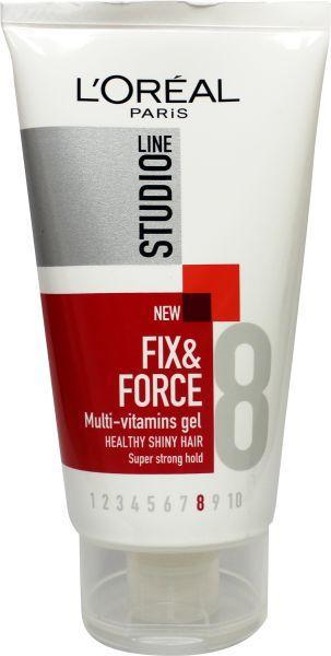 Loreal Paris Studio Line Fix and Force Styling Gel Super Strong 150ml