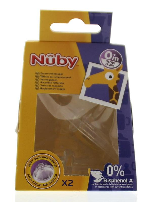 Nuby Replacement Nipple Slow Flow