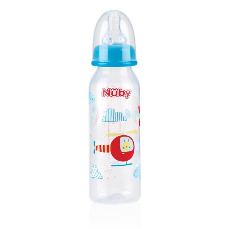 Nuby Natural Touch 3-Standen Siliconen Speen 240 Ml