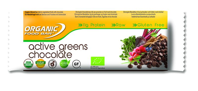 Organic Food Bar Active Greens Chocolade