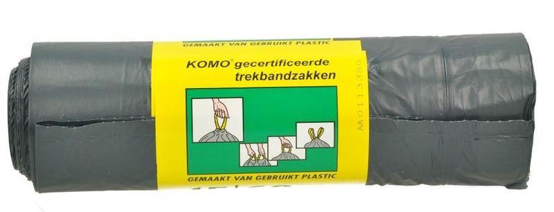 Komo Huisvuilzakken Trekband 62x80cm 15stuks