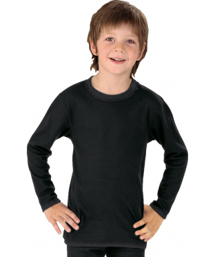 Best4body Verbandshirt Kind Zwart Lange Mouw 92