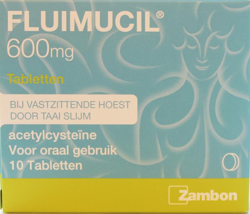 Zambon Fluimucil Bruistabletten 600mg 10tabs