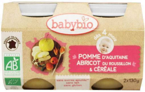 Babybio Dessert Appel Abrikoos Granen 2x130g
