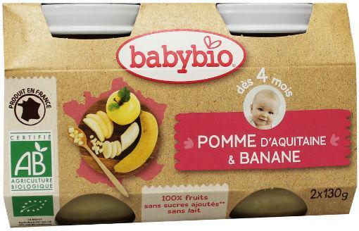 Babybio Dessert Appel Banaan 2x130g