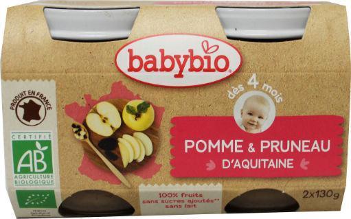 Babybio Dessert Appel Pruim 2x130g