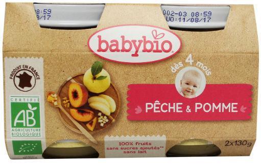Babybio Dessert Perzik 2x130g