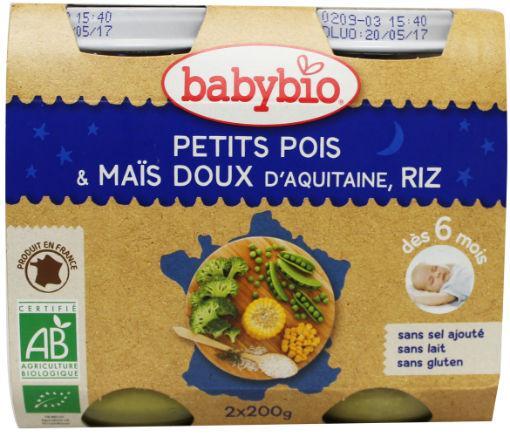 Babybio Groenten Erwt Mais Rijst 2x130g