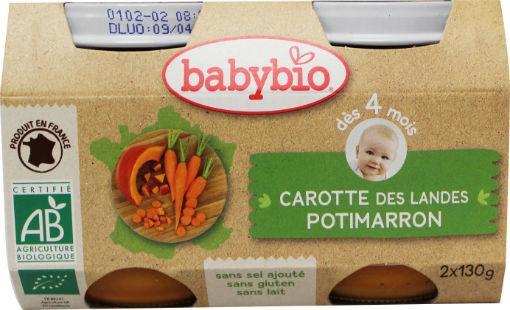 Babybio Groenten Wortel Potima 2x130g