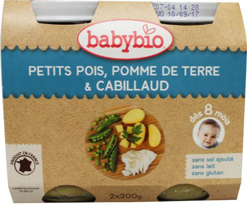 Babybio Groenten Kabeljauw 2x200g