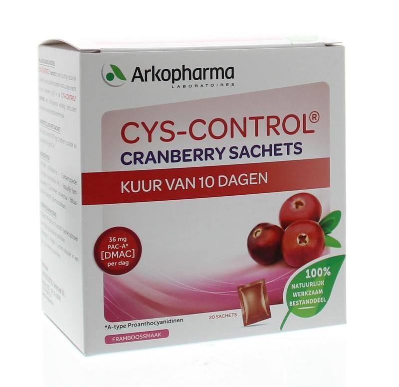 Afbeelding van Cys control Cranberry 4 Gram Per Sachet 20x4g