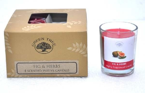 Green Tree Geurkaars Figs & Herbs Votives